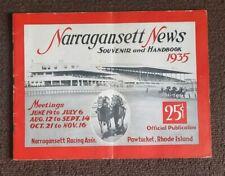 Original 1935 Narragansett news Souvenir Horse Racing Handbook program (RARE)