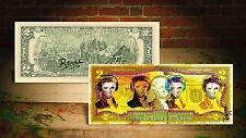 ELVIS PRESLEY HEADPHONES YELLOW by RENCY Art Giclee $2 Bill Signed #/70 Banksy
