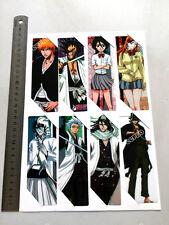 8pcs/set PVC Bookmarks printed w/Anime BLEACH Kuchiki Rukia/Kurosaki ichigo etc
