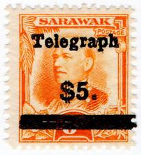 (I.B) Sarawak Telegraphs : Overprint $5 on 8c OP