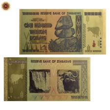 ZIMBABWE $1 HUNDRED TRILLION DOLLAR BANKNOTE 24k GOLD PLATED BANK NOTE