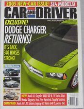 Car & Driver magazine 10/2004 featuring Lamborghini, Dodge, Subaru, Volvo,Toyota