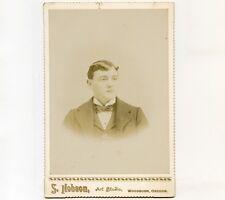 c1894 Cab Card of Young Man, Charley Umphry, Woodburn, Oregon