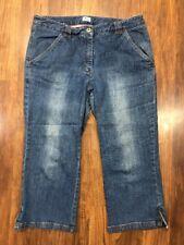 Bass Sz 12 Womens Medium Wash Jean Capris Cotton Stretch 12x22 Capri Pants