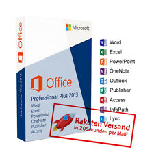 Microsoft Office 2013 Pro Plus MS Office Professional Plus Vollversion Deutsch