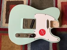 Fender Squier Telecaster BODY Tele SURF Green - FULLY LOADED + neck plate!