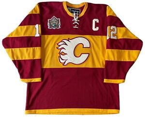 NHL Calgary Flames 2001 Heritage Classic Jarome Iginla L Hockey Jersey
