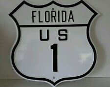 Attention Parrot Heads Florida US 1 Route sign Stamped steel 16 gauge 2.5 Lbs.