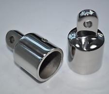 2PCS Eye End Cap Bimini Top Fitting Hardware 1-1/4'' 316 Marine Stainless Steel