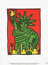 KEITH HARING -  UNTITLED STATUE OF LIBERTY  * RARE PRINT 1995