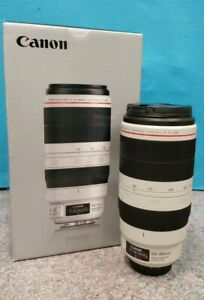 CANON EF 100-400MM f/4.5-5.6L IS II USM TELEPHOTO LENS WITH CASE & HOOD IN BOX