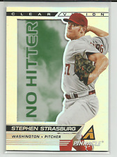 2013 Pinnacle Clear Vision Pitching No Hitter #15 Stephen Strasburg Nationals