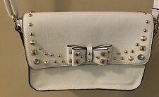 Charming Charlie White With Bow NWOT Handbag/Purse