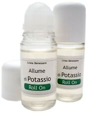 DEO ROLL-ON NEUTRO ALLUME POTASSIO ml.50 unisex deodorante naturale ipoallergeni