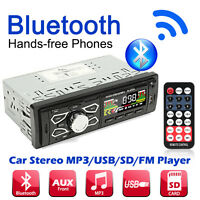 Car Stereo Audio In-Dash FM Aux Input Receiver Radio/MP3/USB/SD Player + Remote