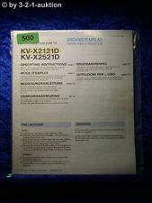 Sony Bedienungsanleitung KV X2121D / X2521D (#0500)