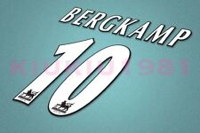Arsenal Bergkamp #10 PREMIER LEAGUE 97-06 White Name/Number Set