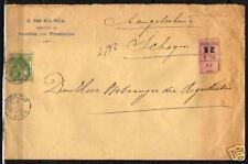 Netherlands 1900 NVPH 68 cover  KLR Schoorldam  Fine