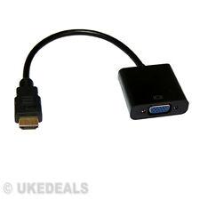 1080p Adaptador Para Pc Laptop Dvd Hdtv Hdmi Macho A Vga Hembra Convertidor De Cable