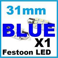 Blue LED Festoon 31mm Glove Interior Reading Light Bulb Falcon Car 33mm 30mm
