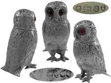 Victorian Silver Owl Pepper Pot 1862