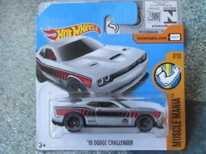 Hot Wheels 2017 #048/365 2015 dodge Challenger Argent Muscle Mania