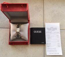 Guess Uhr Uhren Damenuhr W11088L1  silber Armbanduhr elegant mit Glitzersteinen