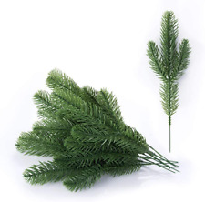 30Pcs Artificial Greenery Xmas Pine Picks Pine Leaves Pine Twigs For Crafts