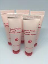 New TONYMOLY (5) Peach Punch Sweet Foam Cleanser 0.33 oz./10 ml Factory Sealed