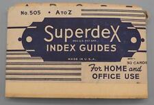 Vintage Superdex No. 505 Index Guides 25ct