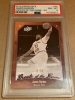 2009-2010 Upper Deck GotG Rookie James Harden 36 SP #d Only 50 Made Graded PSA 8