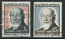 Südwestafrika - 90 Geb. Heinrich Vedder Satz gestempelt 1966 Mi. 327-328 (2)