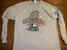 Chicago Cubs 2016 World Series Champion Gray shirt XL Long sleeve NWT New