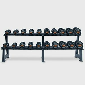 Complete Fixed Dumbbell Set With Dumbbell Weight Rack 2.5kg - 25kg Pairs