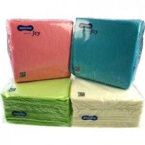 Gros Lot 500 Serviettes Papier Jetables Colorées Fête Mariage évènement 30x30cm