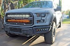 "2017 2018 FORD RAPTOR BEHIND THE GRILL M&R DUAL LED 40"" LIGHT KIT- WHITE+AMBER"