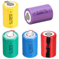 1.2V 2200mAh 4/5 Sub C SC Battery NiCd Rechargeable Batteries With Tap