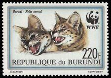 """BURUNDI 684 (Mi1761) - Serval """"Felis serval"""" WWF (pa74420)"""