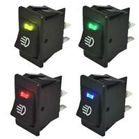 5pc 12V Car Auto truck NEW Fog Light Rocker Toggle Switch 4color LED Dashboard
