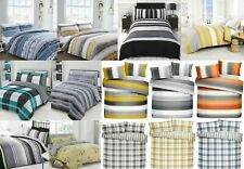 Duvet Cover Reversible Set Printed Quilt Cover Bedding with Pillow Case 3 Size's