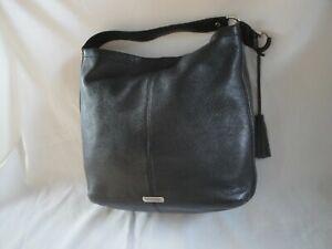 Coach Large Black Pebbled Leather Hobo Shoulder Bag Purse
