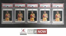2007 TOPPS ROOKIE CARD #2 KEVIN DURANT RC PSA 8 LOT OF 5 A3158933-608