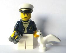 Lego Male Man Minifigure Figure With Seagull Bird Binoculars Boat Captain Sea