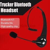bluetooth 4.1 Headset Wireless Kopfhörer mit Mikrofon KFZ LKW Auto Fahren