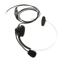 RJ9 Call Center Noise Cancelling Headset/Headphone for Office Desk Telephone