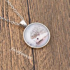 Charms Hedgehog Cabochon Necklace Pandant Long Chain Jewellery Decoration Cute