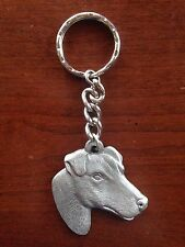 "Vintage ""I [Heart] My Rat Terrier� Pewter Key Chain Excellent – Gorgeous Gift!"