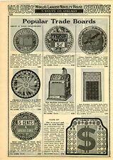 1929 PAPER AD Gardner Trade Boards Salesboard Horse Race Slot Machine King Midas