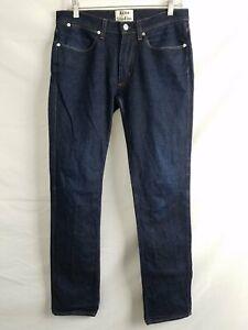 Acne Studios Dark Blue Straight Jeans Mens Sz 31/32