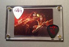 NICE - KISS Ace Frehley & Paul Stanley tour guitar picks / Alive card display!!!
